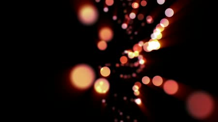 distorção : luminous background with bokeh and particles Stock Footage