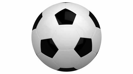 clipping path : soccer ball isolated on white background