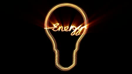turning off : light bulb with text energ