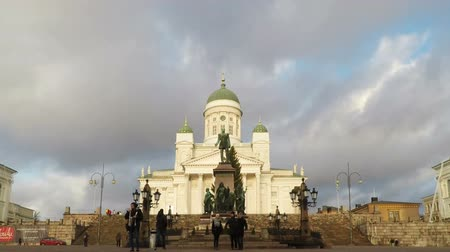 prezentaci : Helsinki, Finland - December 25, 2015: Parallax with transition slideshow, my photo and timelapse video of Helsinki Attractions, Aerial view of Helsinki, capital of Finland
