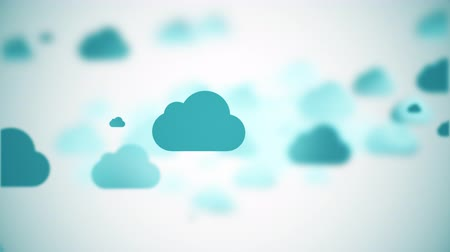 плавающий : moving cartoon clouds,  3D animation Стоковые видеозаписи