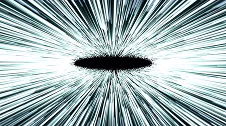Hyperspace jump, scene of overcoming the temporary space in space, time machine, hyperspace jump 4K abstract video animation Stok Video
