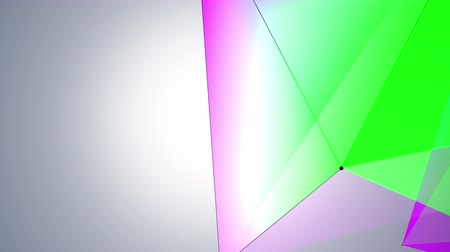 facets : geometrical abstraction on ramp background, dancing dots and connected lines. geometric  4K background. Stock Footage