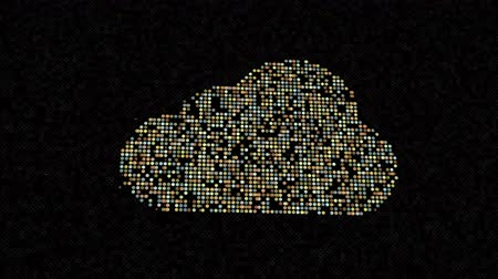 házigazda : Cloud computing concept, icons make a cloud, abstract information technology animation