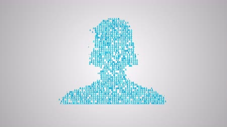 awatar : Social network concept, a lot of avatars make closeup silhouette of a  human