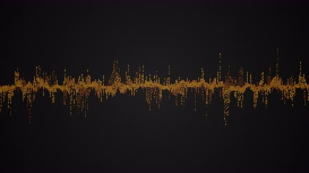 Abstract colorful audio wave on black background, seamless loop abstract animation Stok Video