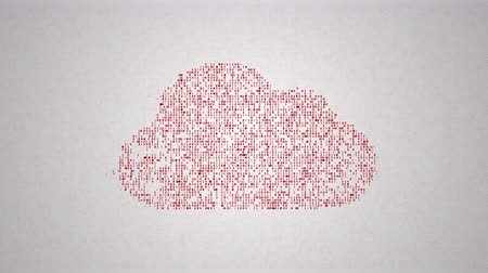 digitalizzazione : Cloud computing concept, icons make a cloud, abstract information technology animation