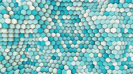 3d wavy hexagons pipes, slow motion abstract background Dostupné videozáznamy