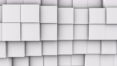 алмаз : A lot of white cubes on the surface of the whole screen, volumetric wave-like movement of cubes densely adjacent to each other, slow motion 4K abstract background