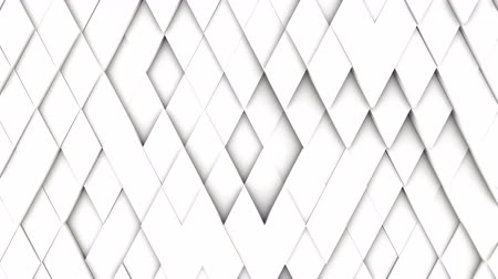 rhombic : abstract diamond geometric surface, light bright clean minimal rhombic  grid pattern, random waving motion background canvas in pure wall architectural white