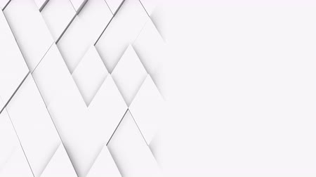 rhombic : abstract polygonal geometric surface, light bright clean minimal polygonal grid pattern, random waving motion background canvas in pure wall architectural white