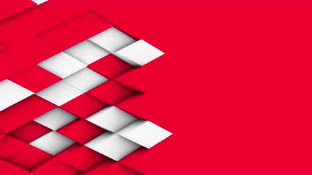 ornamento : abstract polygonal geometric surface, white minimal polygonal grid pattern with some color elements, random waving motion background in pure architectural wall with white design space Stock Footage