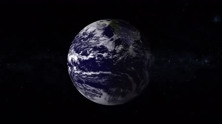 planety : Earth is the third planet from the Sun and the only astronomical object known to harbor life, with stars of the milky way galaxy on background