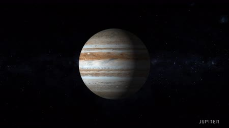 teleskop : Jupiter is the fifth planet from the Sun and the largest in the Solar System with stars of the milky way galaxy on background