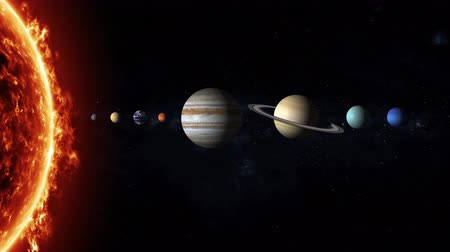 Венера : Our solar system consists of an average star the Sun, the planets Mercury, Venus, Earth, Mars, Jupiter, Saturn, Uranus, Neptune, and Pluto with stars of the milky way galaxy on background