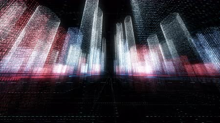 都市景観 : digital city, abstract tech animation