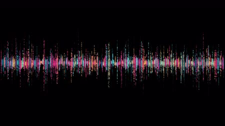 flûte à bec : visualization of voice record, artificial intelligence, waveform equalizer and visualization of audio wave Vidéos Libres De Droits