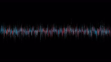 gravador : visualization of voice record, artificial intelligence, waveform equalizer and visualization of audio wave Stock Footage