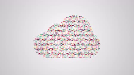 zęby : Cloud computing shape concept tech animation from sets of symbols