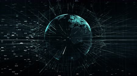 büyük ağ : global digital world, abstract 3D rendering of technology global data network surrounding earth conveying connectivity data flood of modern digital age