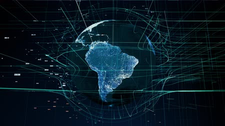 složitost : global digital world, abstract 3D rendering of technology global data network surrounding earth conveying connectivity data flood of modern digital age