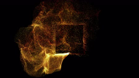magfúzió : Explosion with particles around cube atom science technology, energy cube, abstract animated motion graphic