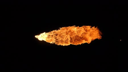 fireball : Fire ball explosion, high speed camera, isolated fire flame on black background.
