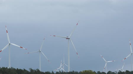 sustainable resources : Wind power turbines - Sustainable, renewable energy concept.