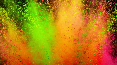 1000 : Colorful powder exploding on black background in super slow motion.
