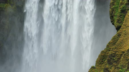 skogafoss : Close-uo of Skogafoss waterfall in Iceland