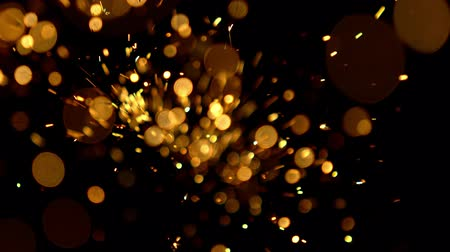 projektor : Abstrakte goldene Bokeh-Lichter Videos