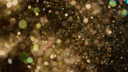 1000 : Abstract gold lights shiny art background 4k, super slow motion