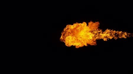 flexão : Fire explosion shooting with high speed camera at 1000fps, Stock Footage