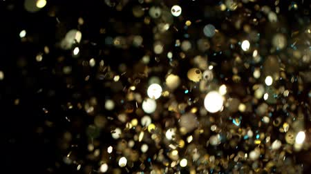 projektor : Abstract gold lights shiny art background 4k, super slow motion