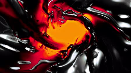 fondu : abstract molten liquid in super slow motion. Vidéos Libres De Droits