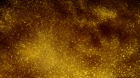 luminosidade : Abstract gold lights shiny art background 4k, super slow motion