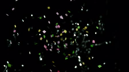 resfriar : Colored Confetti Background in Super Slow Motion