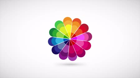 палитра : Color Palette Wheel Video Animation, multi-colored