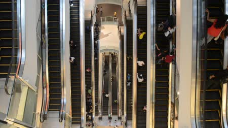 nu : NU Sentral Mall, KL Sentral, Kuala Lumpur, circa November 2016. Inside view of the mall  View of the Mall multi storey escalator system