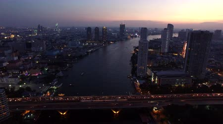 tower bridge : sathorn bridge silom heart of bangkok thailand