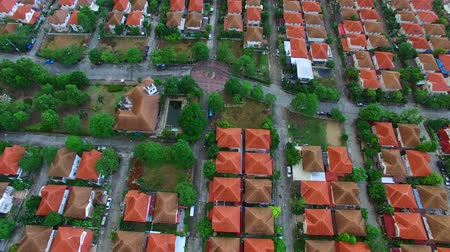 subúrbio : aerial view of home village in thailand use for land development and property real estate business Stock Footage