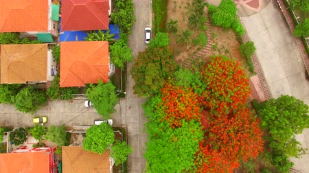 bydlení : top view of good environment home village in bangkok thailand