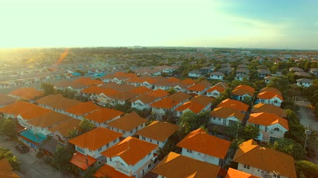 dom : aerial view of home village in bangkok thailand