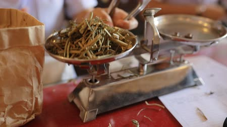 thai herb on old balancing measurement