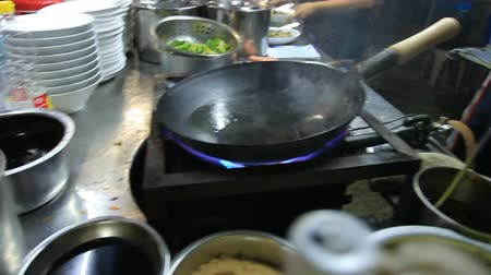 street food cooking in bangkok thailand