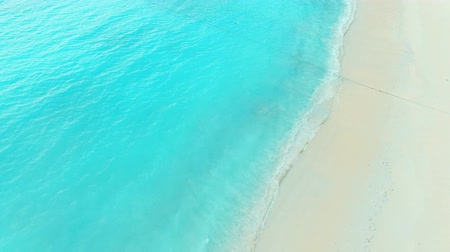 aerial view of beautiful tropical sea beach
