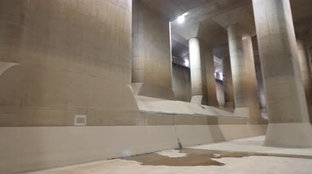 edogawa : Saitama, Japan-November 29, 2017: The Metropolitan Area Outer Underground Discharge Channel was built to prevent flood. Its gigantic surge tank is called Underground Temple or Palace.