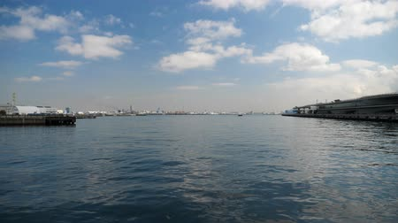 gateway : Panorama view of Yokohama Port, a gateway to the greater Tokyo area.