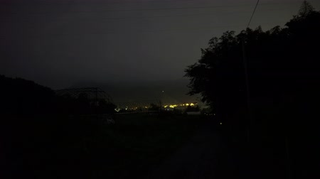 hotaru : Gunma, Japan-June 28, 2018: Firefly or glowfly or lighting bug or hotaru observed in Minakami, Japan