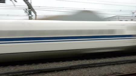 golyó : Kanagawa, Japan-July 12, 2019: JR or Bullet train passes Odawara station